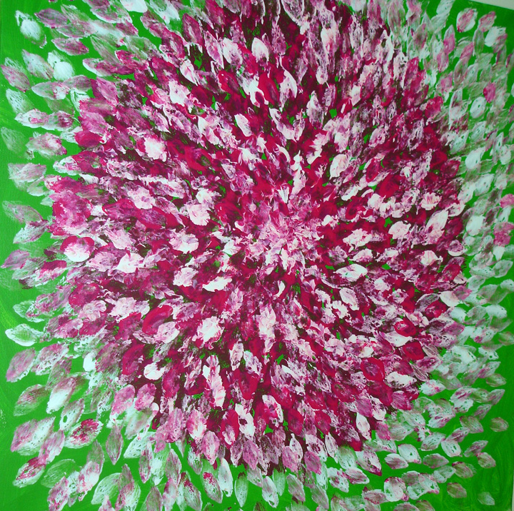 <b>Petal Mania</b><br>70x50cm<br>Acrylic on canvas