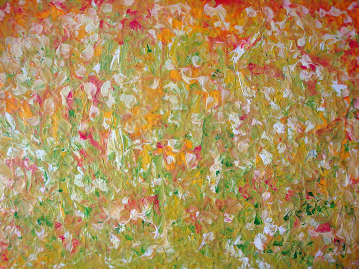 <b>Pink Meadow</b><br>70x50cm<br>Acrylic on canvas